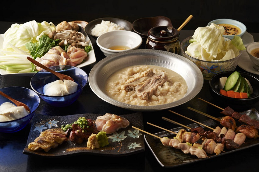 大井町にある鶏料理専門の居酒屋「とりいちず」のメニュー