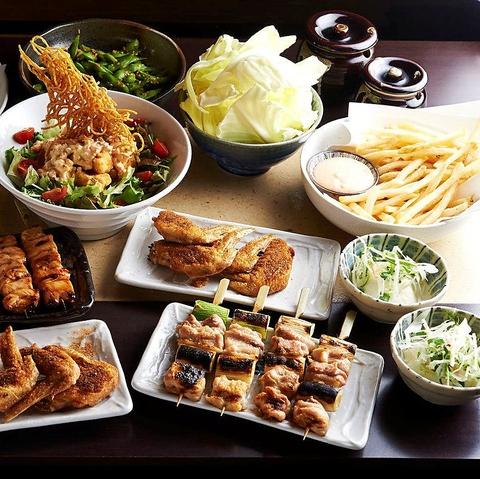 大井町の焼き鳥が美味しい居酒屋[とりいちず]の女子会コース